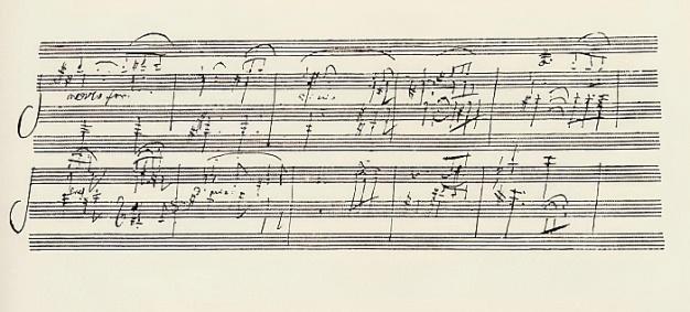 Ludwig van Beethoven - Portion of the Manuscript of Beethovens Sonata in A Opus 101 (pen ink) - (MeisterDrucke-41638)