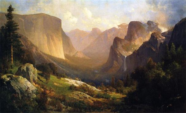a-view-up-yosemite-valley-Thomas Hill_1871.jpg!Large